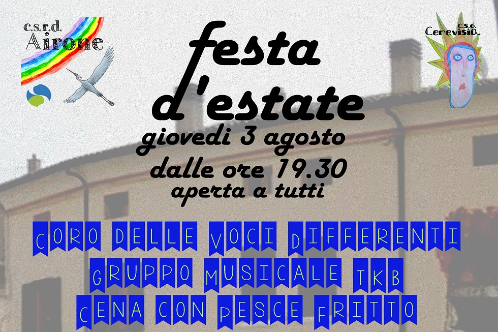 Festa D'estate 2017- Csrd Airone E Cso Cerevisia